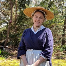 Kate McGowan in colonial clothing