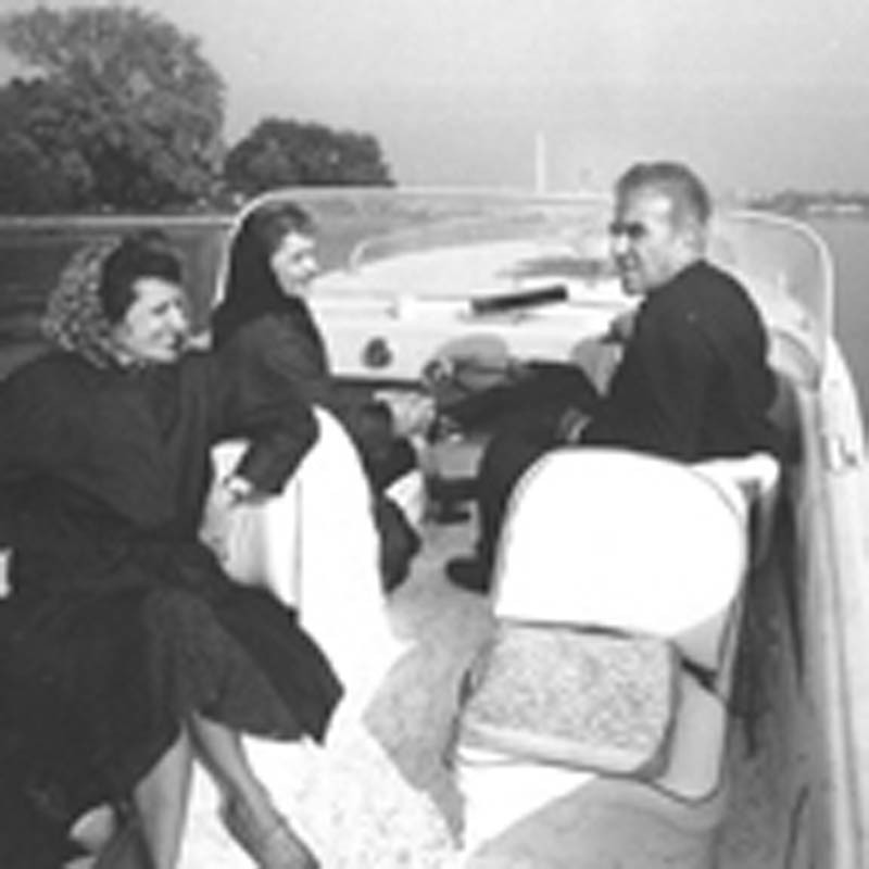 Martha, Clara, and Robert take a boat ride