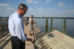 Governor O'Malley visits the Accokeek Foundation