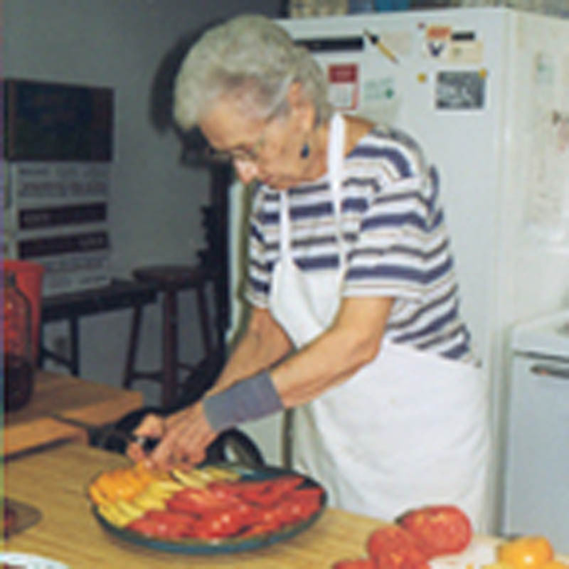 Clara in the kitchen