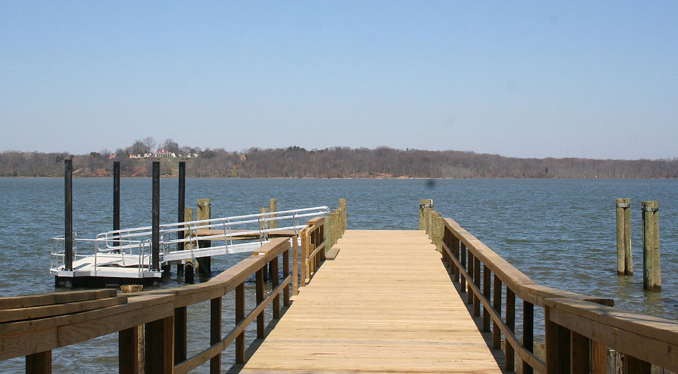 finished boat dock with floating pierCRO