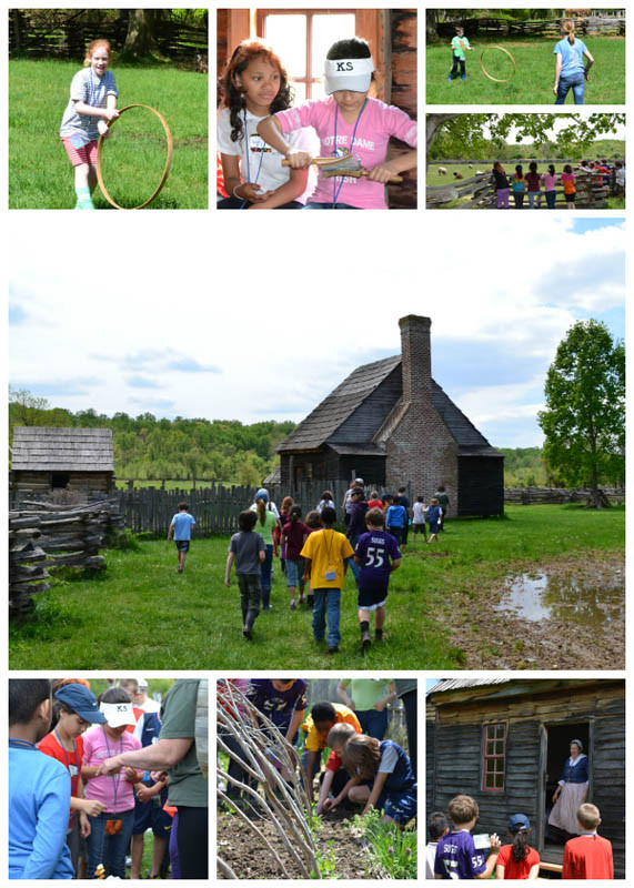 Students time travel the seasons at a 18th century farm.