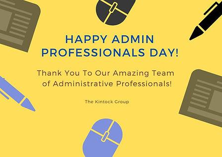 Kintock Celebrates National Administrative Professionals Day