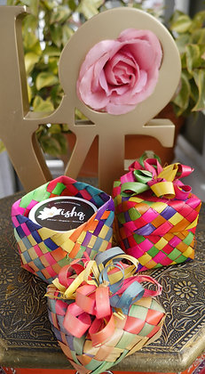 Colorful Straw Gift Box