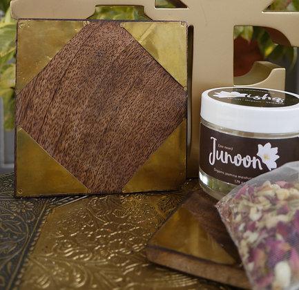 Wood & Gold Coaster Gift Set
