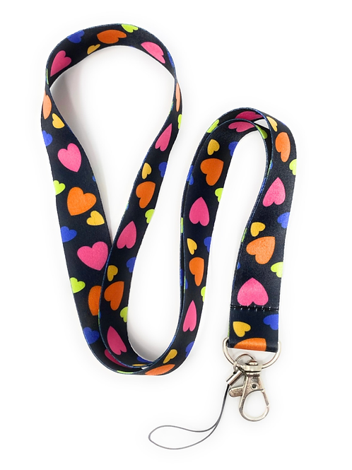 Colourful Heart Lanyard
