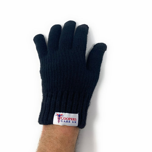 Black Winter Gloves by Coopers Care UK