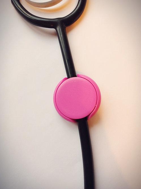 Pink stethoscope ID tag
