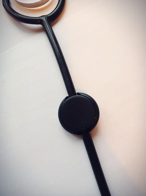 Black stethoscope ID tag