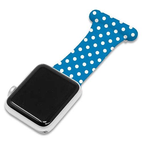 Blue Polka Dot Pattern Apple Watch Nurse Fob