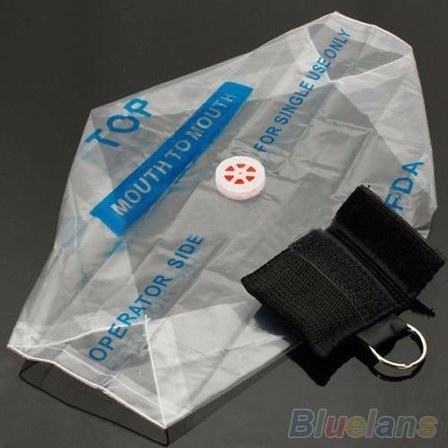 Black Key Ring CPR Face Shield Mask