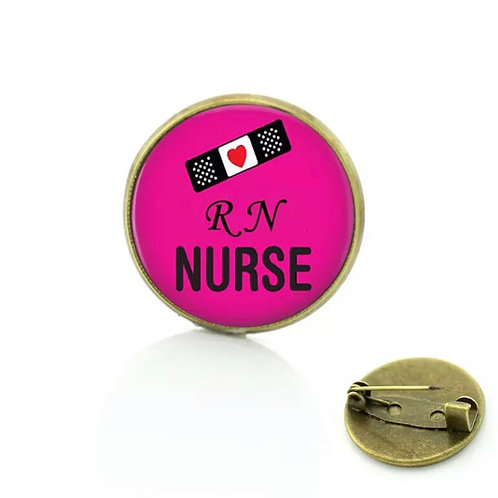 RN Nurse (Pink) Registered Nurse Pin