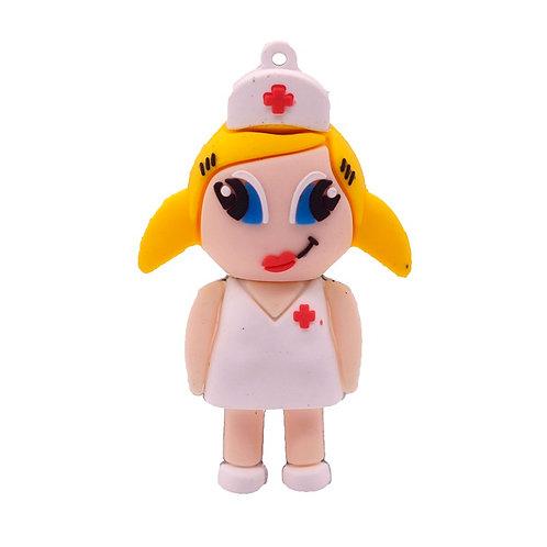 Nurse USB 4GB (Female White)