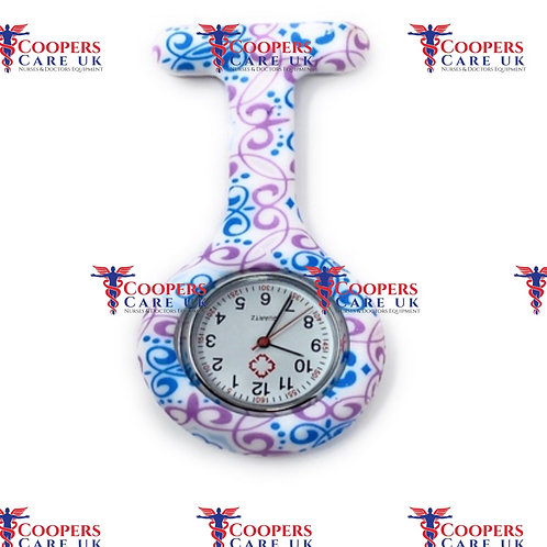 Purple and Blue Nurse Fob Watch Coopers Care UK