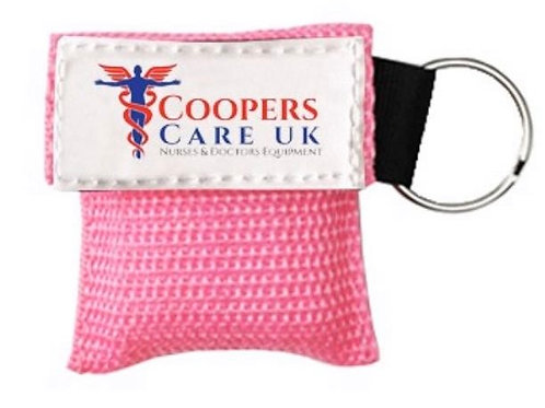 Pink Key Ring CPR Face Shield Mask