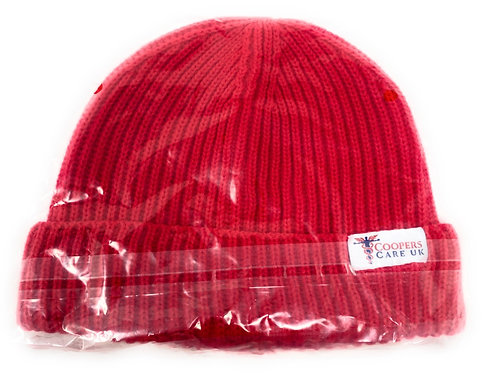 Red Winter Hat by Coopers Care UK