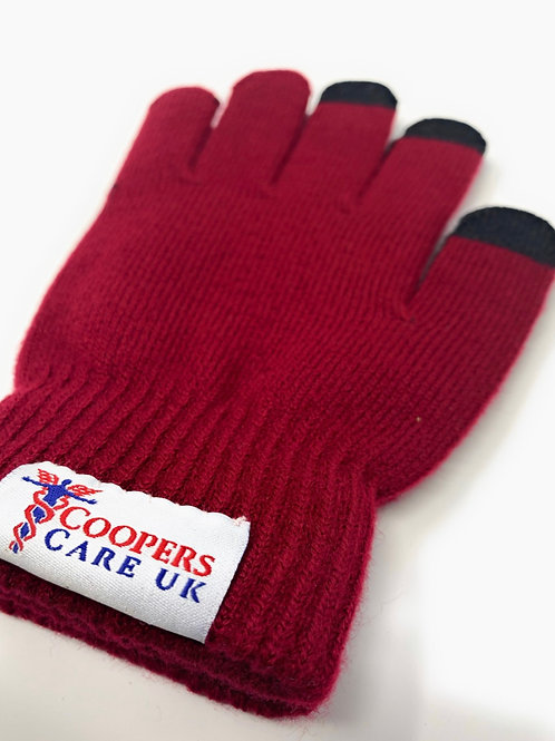 Red Winter Gloves by Coopers Care UK