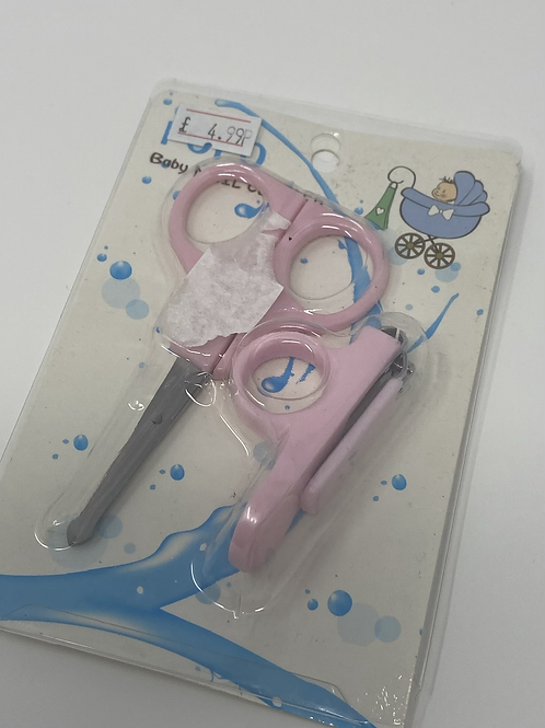 Copy of Baby Nail Clippers and Scissors (PINK)