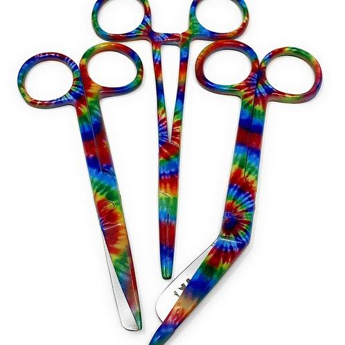 Set of 3 Colourful Rainbow Tie Dye 5'5