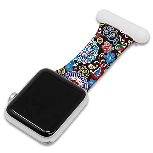 Colourful Pattern Print Apple Watch Nurse Fob