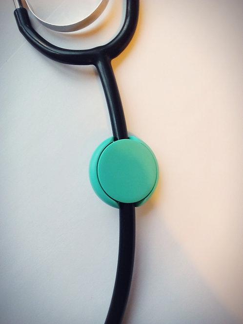 Green stethoscope ID tag