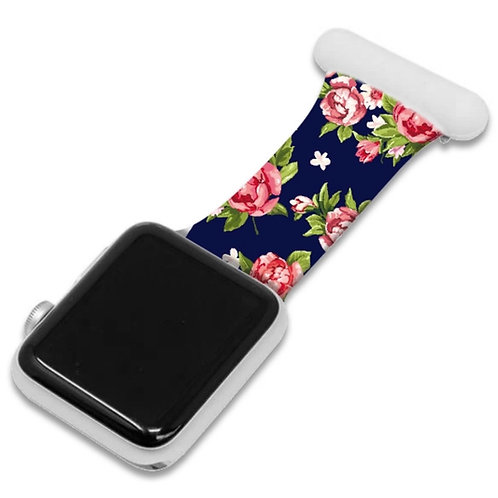 Flower Print Apple Watch Nurse Fob