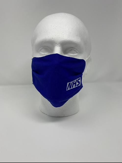 NHS 100% Cotton Double Layer Face Mask (Reusable/Washable)