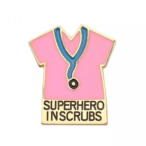 Superhero In Scrubs (Pink)