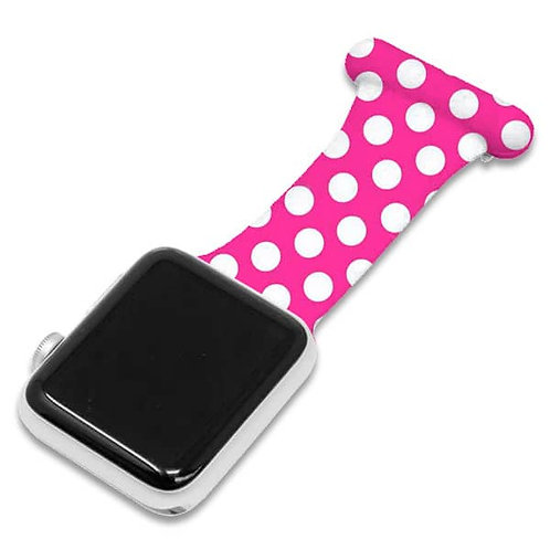 Pink Polka Dot Pattern Apple Watch Nurse Fob