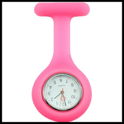 Pink Silicone Fob Watch