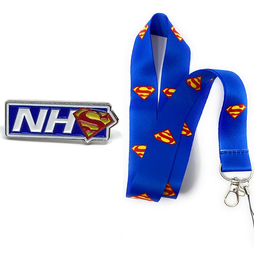 NHS Hero Pins & Hero Lanyard