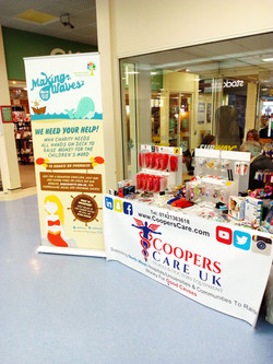 Stepping Hill Fundraiser Stand