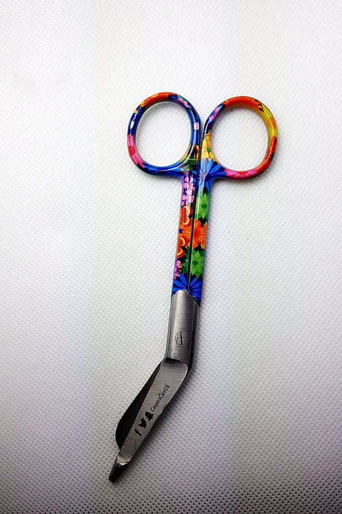 Colorful Flower Design bandage scissors 5'5 (Small)