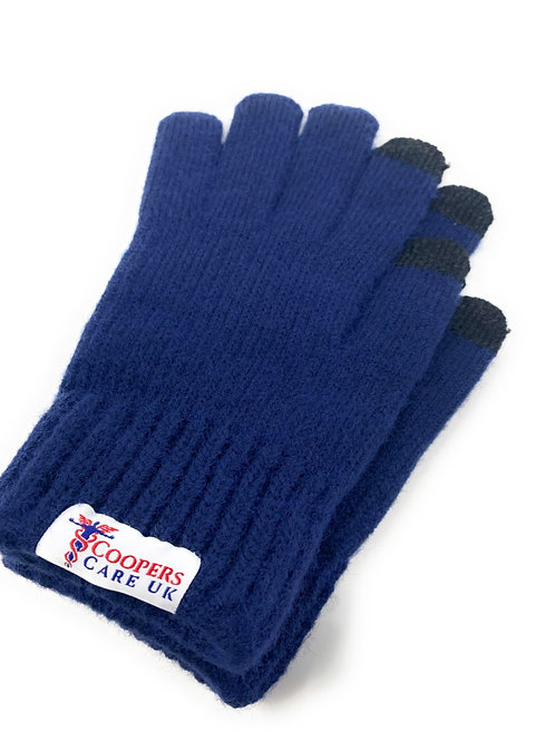 Navy Winter Gloves by Coopers Care UK