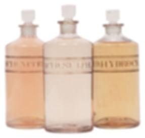 Botellas del boticario de la vendimia