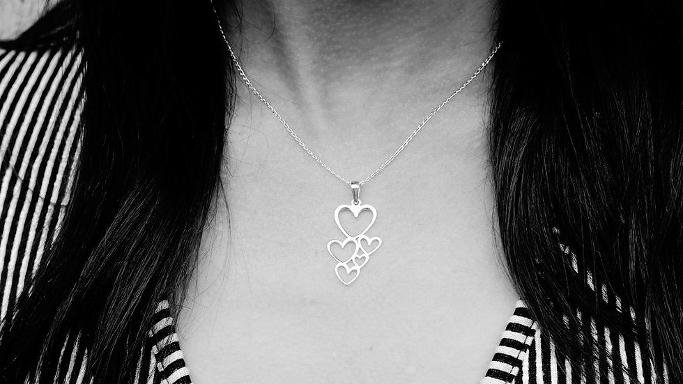 Full Heart 925 Sterling Silver Pendant Necklace