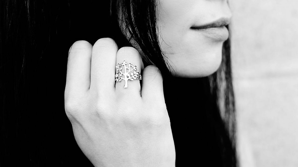 Deeply Rooted Ring- 925 Sterling Silver
