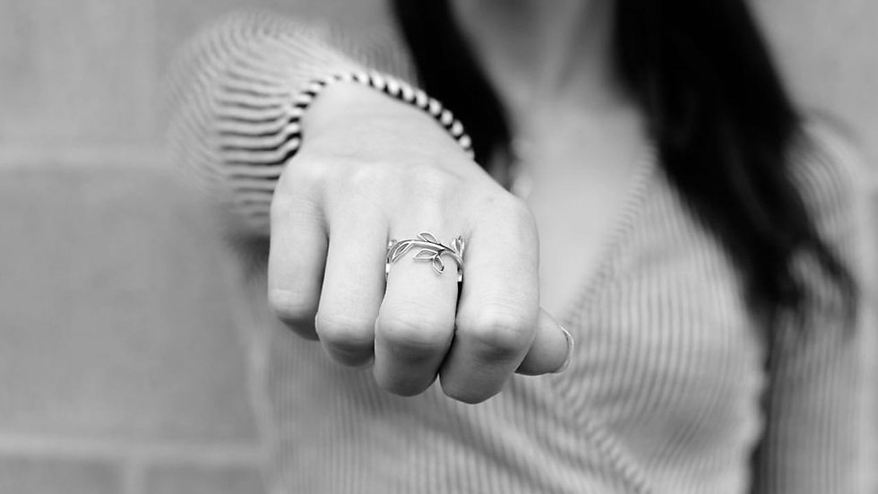 The Leaf Power Ring from SilverShea's WanderLust Line