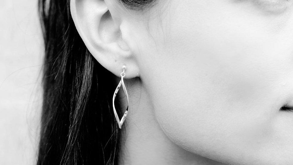 925 Sterling Silver Diamond Dangle Studs