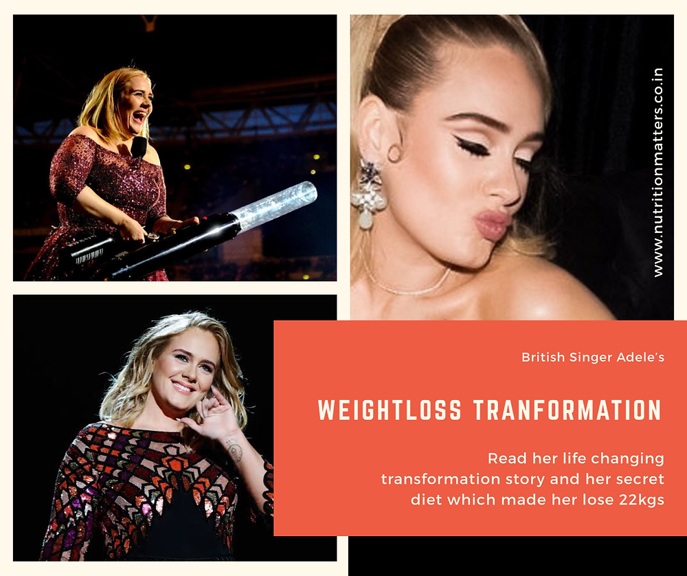 Singer Adele Weight Loss Diet - 22 Kilos 50 Pounds Weight Loss with Diet Dietitian Ankita Gupta Sehgal