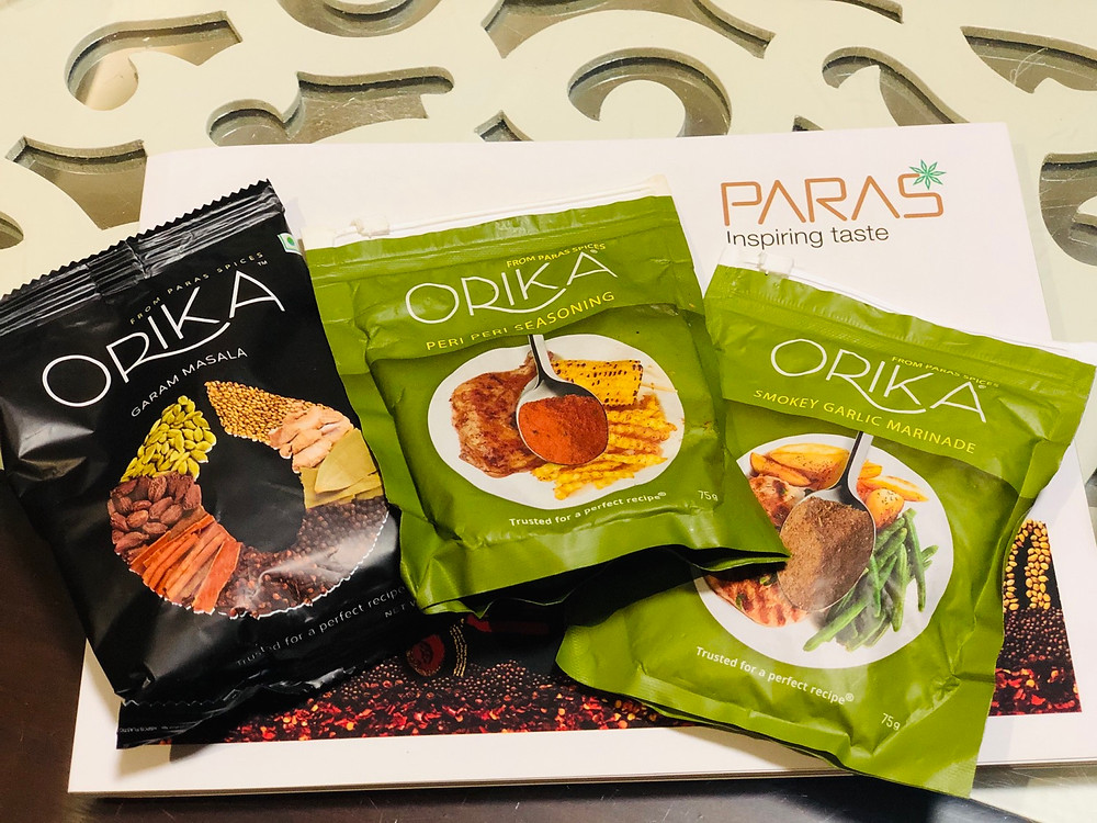 Orika spices by paras product review by dietitian Ankita Gupta Sehgal