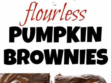 Guilt Free Flourless Pumpkin Brownie Recipe