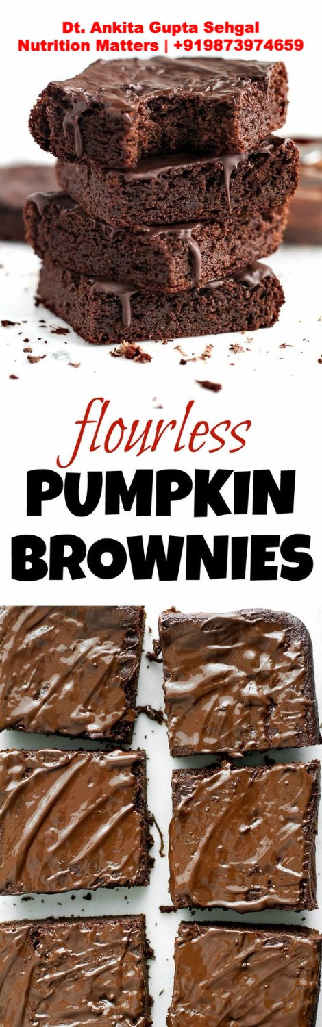 recipe healthy brownie pumpkin best dietitian ankita gupta sehgal delhi weight loss diet clinic slimming