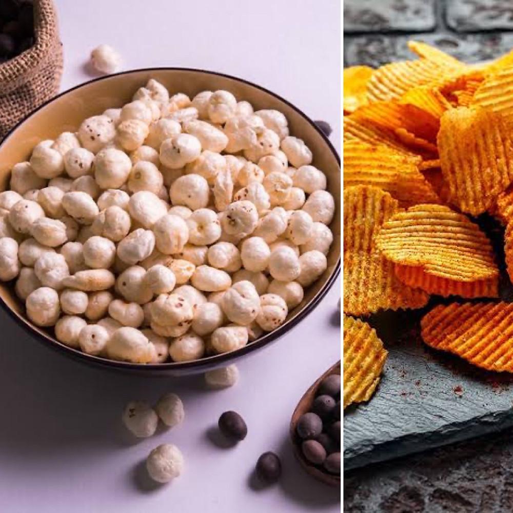 Foxnuts Makhana Health Benefits Chips