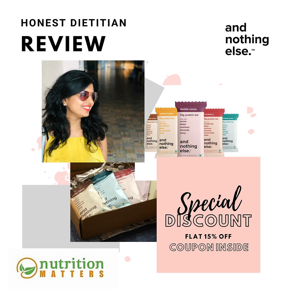 Dietitian Honest Review AndNothingElse Protein Bar
