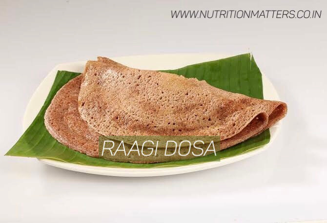 Ragi Dosa : Source of iron rich food children and adult