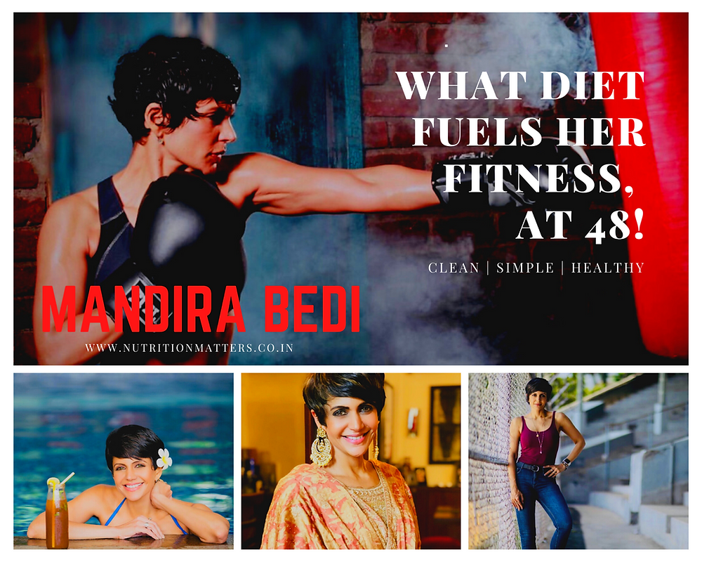 Mandira bedi diet plan age weight fitness fit yoga workout food eat