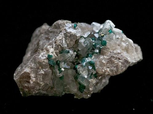 Dioptase w/ Calcite