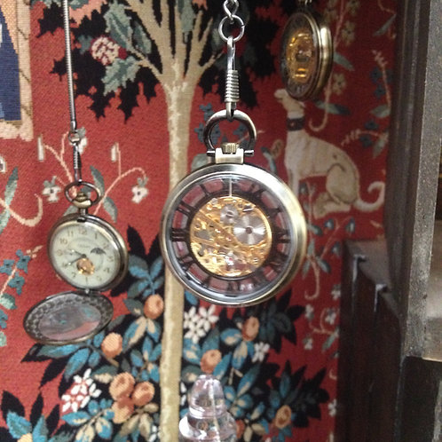 Steampunk windup pocket watch