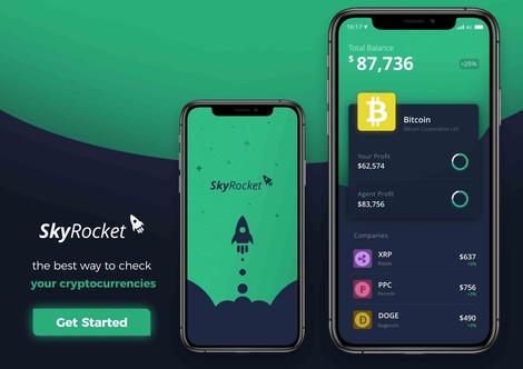 Landing page SkyRocket UX / UI